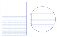 Lined Paper, Primary Ruled Paper, Item Number 038721
