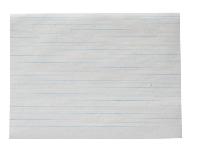Lined Paper, Primary Ruled Paper, Item Number 038722