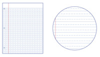 Lined Paper, Primary Ruled Paper, Item Number 038728