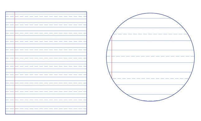 Lined Paper, Primary Ruled Paper, Item Number 038729