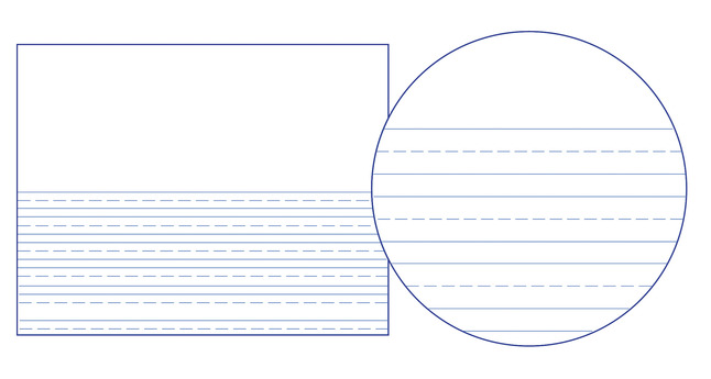 Lined Paper, Primary Ruled Paper, Item Number 038747