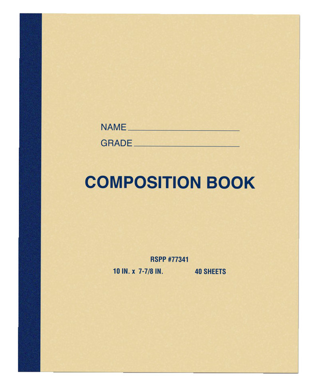 Composition Books, Composition Notebooks, Item Number 038765