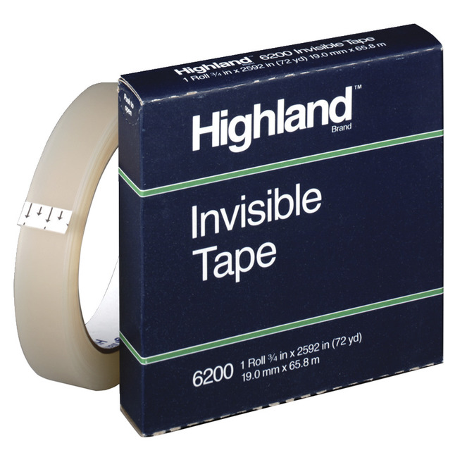 Clear Tape and Transparent Tape, Item Number 040731