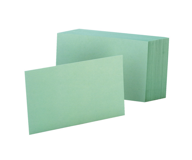 4x6 Blank Index Cards, Item Number 048315