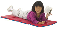 Peerless Plastics Basic Toddler KinderMat, 19 x 45 x 5/8 Inches, Blue and Red Item Number 1532511