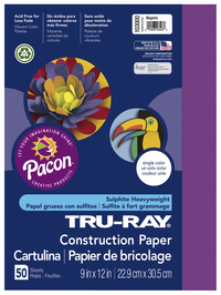 Tru-Ray Sulphite Construction Paper, 12 x 18 Inches, Magenta, 50 Sheets Item Number 054057