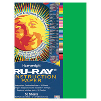 Tru-Ray Sulphite Construction Paper, 18 x 24 Inches, Festive Green, 50 Sheets Item Number 054924