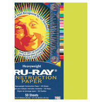 Tru-Ray Sulphite Construction Paper, 9 x 12 Inches, Brilliant Lime, 50 Sheets Item Number 053985