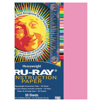 Tru-Ray Sulphite Construction Paper, 12 x 18 Inches, Shocking Pink, 50 Sheets Item Number 054099