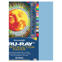 Tru-Ray Sulphite Construction Paper, 9 x 12 Inches, Sky Blue, 50 Sheets Item Number 054009