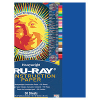 Tru-Ray Sulphite Construction Paper, 12 x 18 Inches, Royal Blue, 50 Sheets Item Number 054111