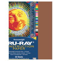 Tru-Ray Sulphite Construction Paper, 12 x 18 Inches, Warm Brown, 50 Sheets Item Number 054138