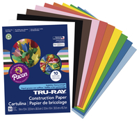 Tru-Ray Sulphite Construction Paper, 12 x 18 Inches, Assorted Standard Color, Pack of 50 Item Number 054156