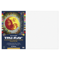 Tru-Ray Sulphite Construction Paper, 12 x 18 Inches, White, 50 Sheets Item Number 054141