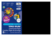 Tru-Ray Sulphite Construction Paper, 12 x 18 Inches, Black, 50 Sheets Item Number 054150