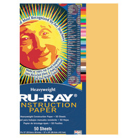 Tru-Ray Sulphite Construction Paper, 9 x 12 Inches, Gold, 50 Sheets Item Number 054402