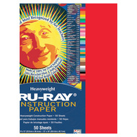 Tru-Ray Sulphite Construction Paper, 18 x 24 Inches, Festive Red, 50 Sheets Item Number 054945