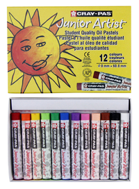 Sakura Cray-Pas Junior Artist Oil Pastels, Assorted Colors, Set of 12 Item Number 059187