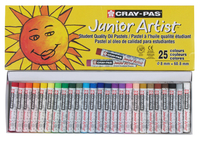 Sakura Cray-Pas Junior Artist Oil Pastels, Assorted Colors, Set of 25 Item Number 059193