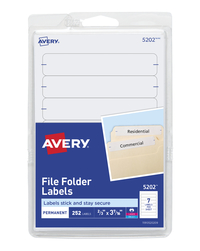 File Folder and File Cabinet Labels, Item Number 067664