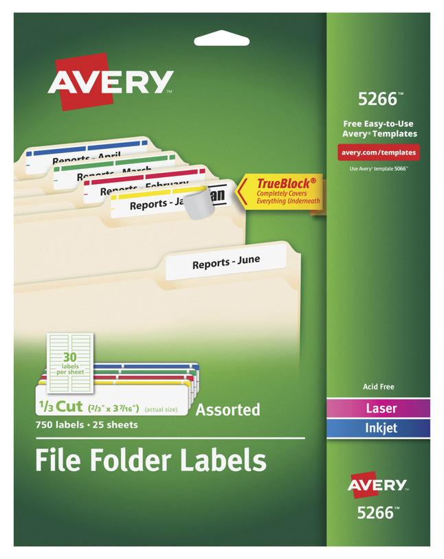 File Folder and File Cabinet Labels, Item Number 067669