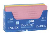 3X5 Ruled Index Cards, Item Number 067721