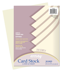 Array Card Stock Paper, 8-1/2 x 11 Inches, Ivory, Pack of 100 Item Number 069006