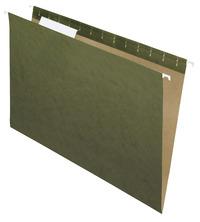 School Smart Hanging File Folders, Legal, 1/3 Cut Tabs, Green, Pack of 25 Item Number 070320