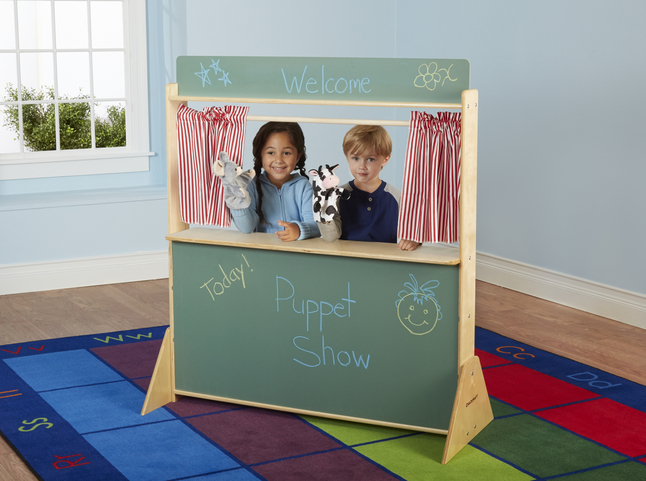 45-1//2 x 19-1//2 x 50-3//4 Inches Childcraft Play Store and Puppet Theater