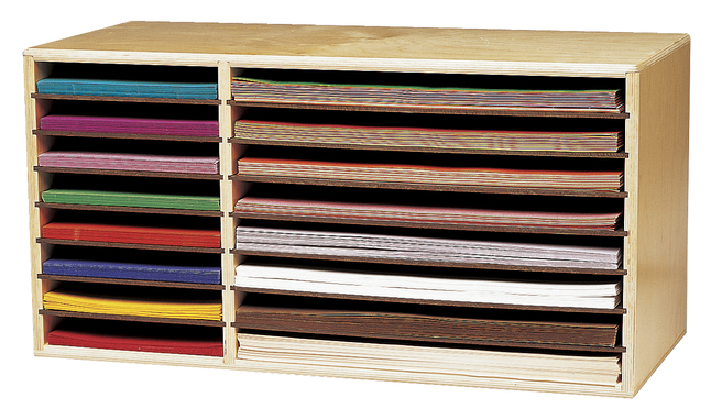 Childcraft Construction Paper Holder 29 38 X 12 34 X 15 Inches