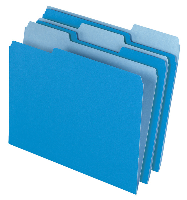 Top Tab File Folders, Item Number 072854
