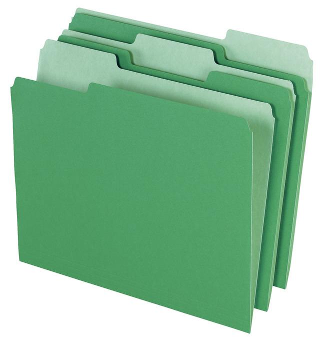 Top Tab File Folders, Item Number 072858