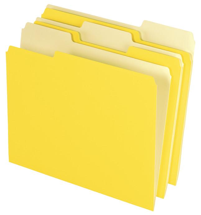 Top Tab File Folders, Item Number 072864