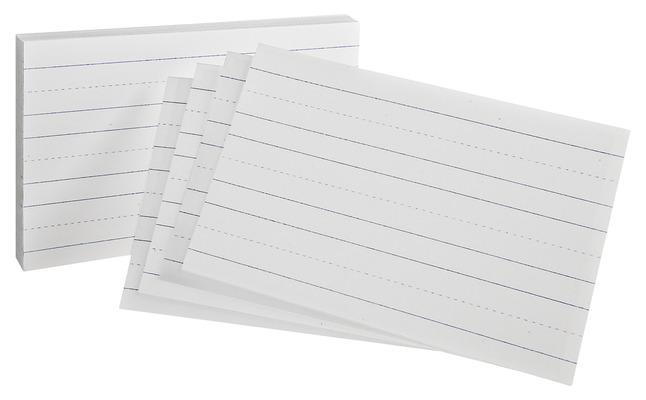 5x8 Ruled Index Cards, Item Number 075528