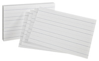 5x8 Ruled Index Cards, Item Number 075528