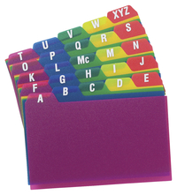 Index Card Guides, Index Card Storage , Item Number 076045