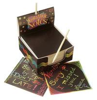Scratch-Art Scratch Magic Notes Cube, Black, 125 Sheets Item Number 076420