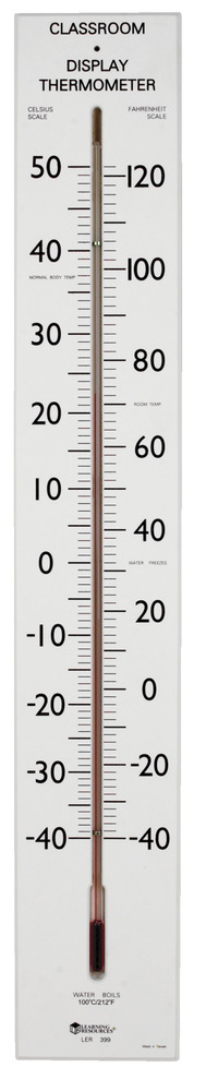 Learning Resources Giant Classroom Thermometer, 23 Inch Tube, Age 5 and up Item Number 076833