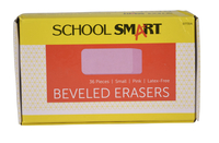 School Smart Beveled Block Erasers, Small, Pink, Pack of 36 Item Number 077354