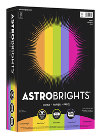Astrobrights Colored Paper, 8-1/2 x 11 Inches, Assorted Happy Colors, Pack of 500 Item Number 077429