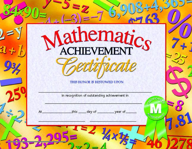 Award Certificates, Item Number 078298