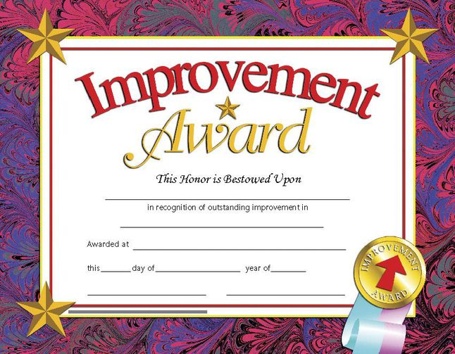 Award Certificates, Item Number 078299