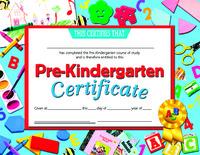 Award Certificates, Item Number 078300