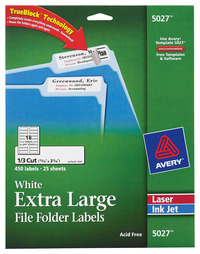 File Folder and File Cabinet Labels, Item Number 078593