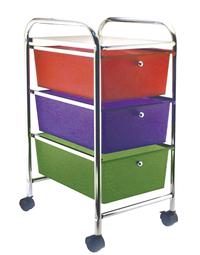 Rolling Cart with 3 Drawers, 26 x 13 x 15-1/4 Inches Item Number 080020