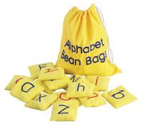 Educational Insights Color Coded Alphabet Bean Bags with Storage Bag, Set of 26 Item Number 080415
