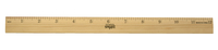 School Smart Single Beveled Plain Edge Wood Scale Ruler, 12 in L X 7/8 in W X 5/32 in Thickness, 1/8 in Scaled, Clear Lacquer Item Number 081898
