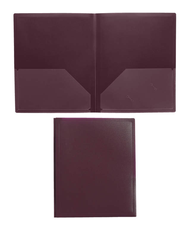 Poly 2 Pocket Folders, Item Number 081925