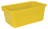 School Smart Tote Tray, 12 x 8 x 5 Inches, Yellow Item Number 081943