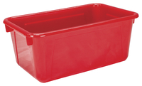 School Smart Tote Tray, 7-7/8 x 12-1/4 x 5-3/8 Inches, Red Item Number 081947